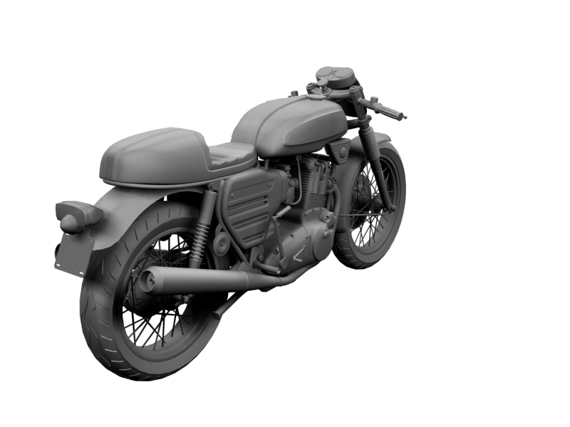 bsa rocket 3 racer 1969 3d model 3ds max dxf fbx c4d obj 164421