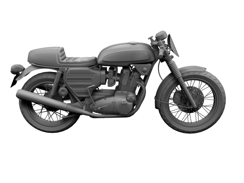 bsa rocket 3 racer 1969 3d model 3ds max dxf fbx c4d obj 164422