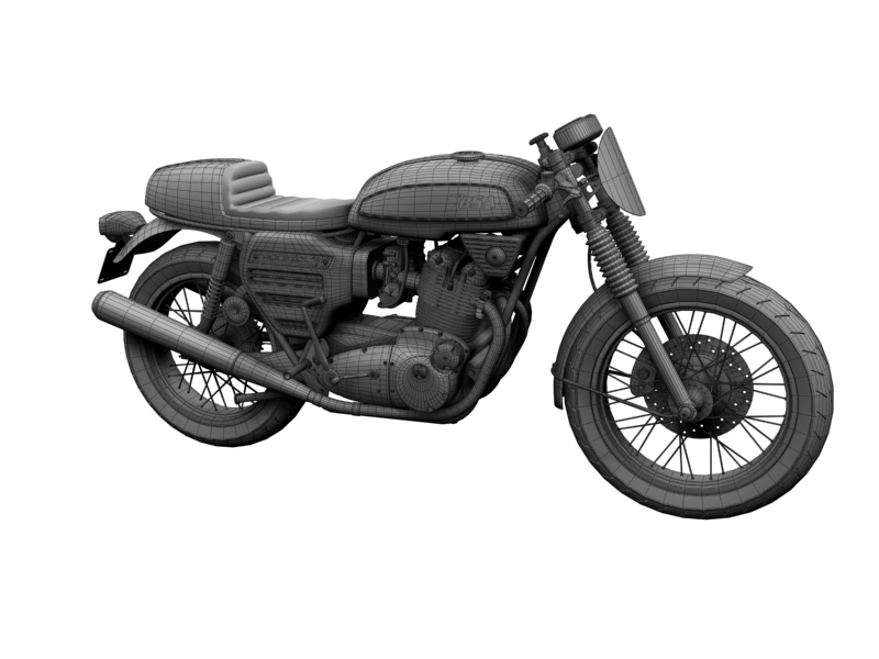 bsa rocket 3 racer 1969 3d model 3ds max dxf fbx c4d obj 164423