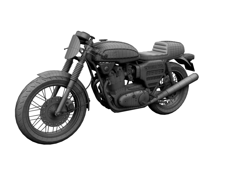 bsa rocket 3 racer 1969 3d model 3ds max dxf fbx c4d obj 164424