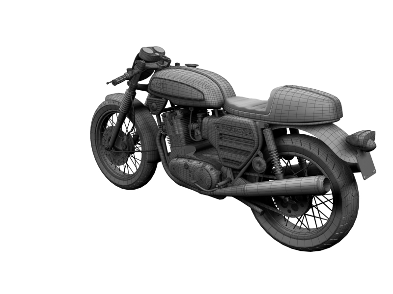 bsa rocket 3 racer 1969 3d model 3ds max dxf fbx c4d obj 164426