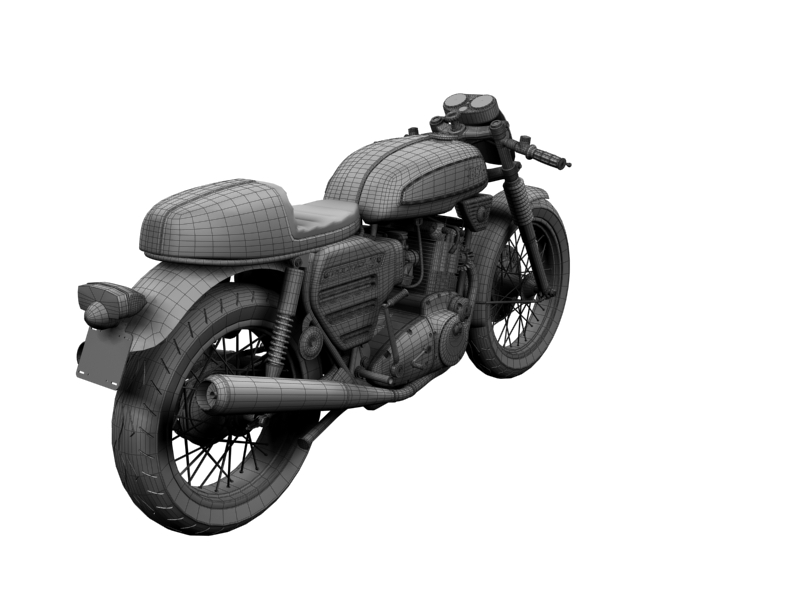 bsa rocket 3 racer 1969 3d model 3ds max dxf fbx c4d obj 164428