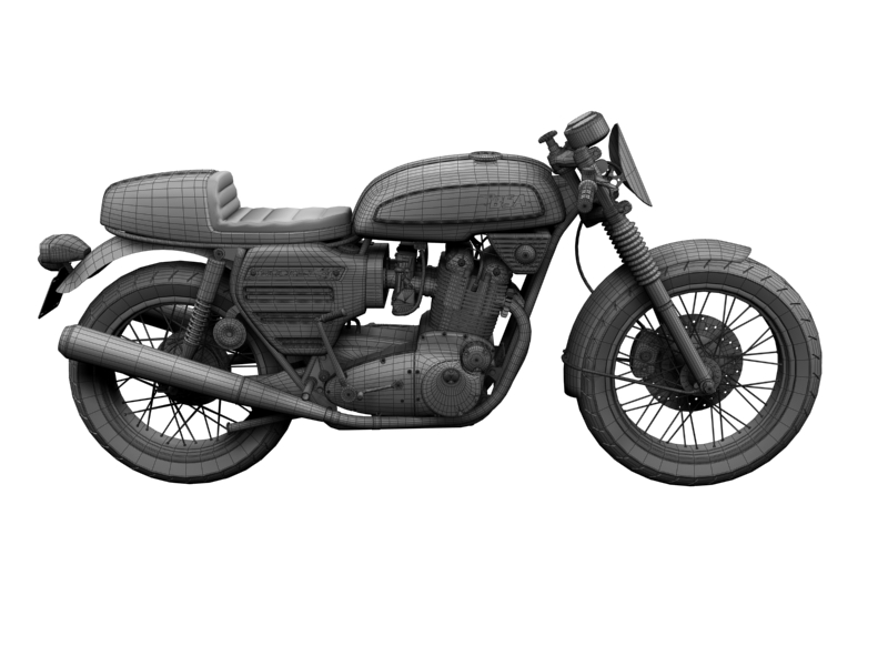 bsa rocket 3 racer 1969 3d model 3ds max dxf fbx c4d obj 164429