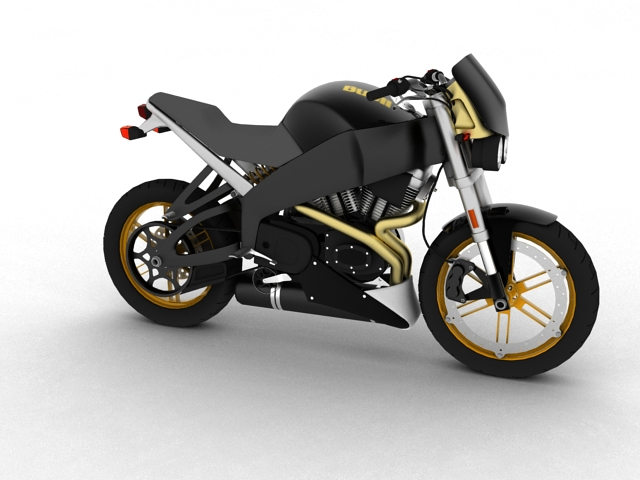 buell xb12s lightning 2010 3d model 3ds max c4d obj 148088