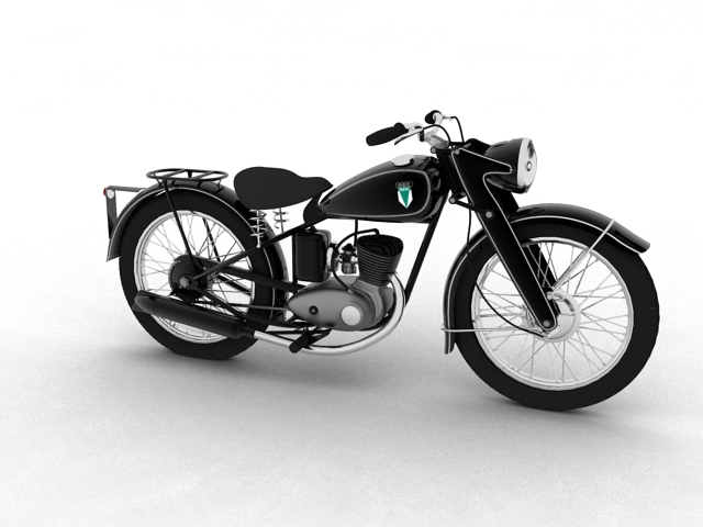 dkw rt125 1950 3d model 3ds max fbx c4d obj 154477