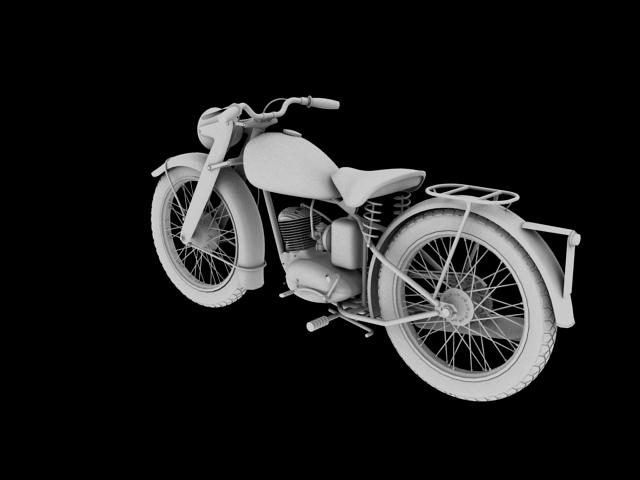 dkw rt125 1950 3d model 3ds max fbx c4d obj 154484