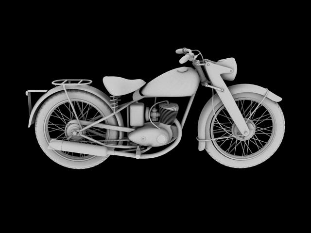dkw rt125 1950 3d model 3ds max fbx c4d obj 154487