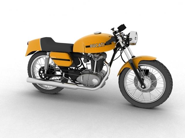 ducati 350 desmo 1971 3d model 3ds max c4d obj 105308
