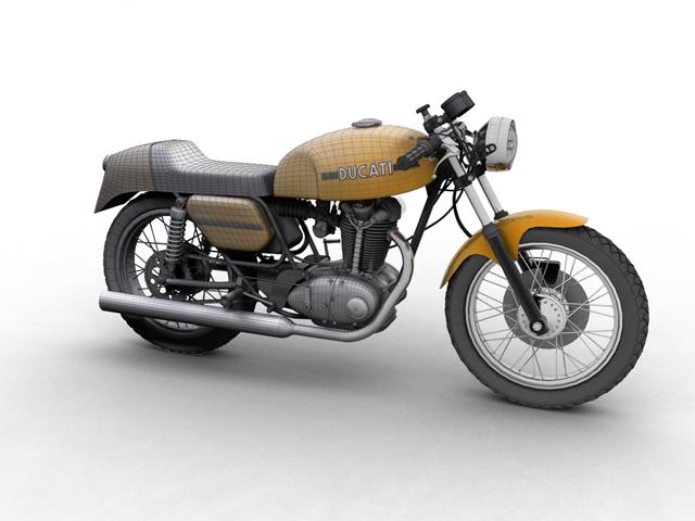 ducati 350 desmo 1971 3d model 3ds max c4d obj 105309