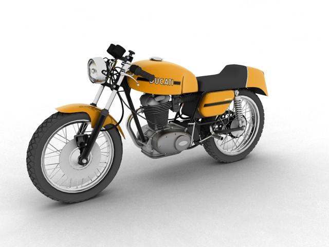 ducati 350 desmo 1971 3d model 3ds max c4d obj 105310