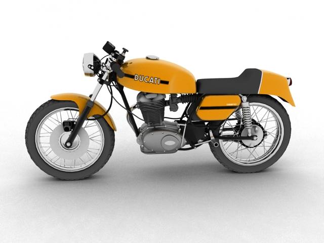 ducati 350 desmo 1971 3d model 3ds max c4d obj 105311