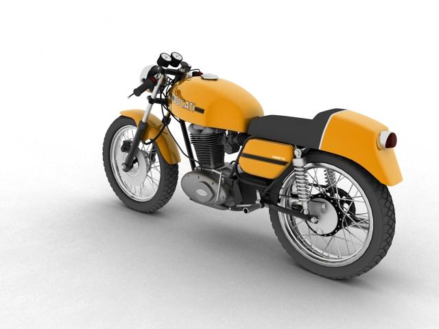 ducati 350 desmo 1971 3d model 3ds max c4d obj 105312