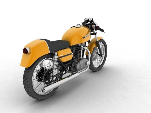 ducati 350 desmo 1971 3d model 3ds max c4d obj 105314