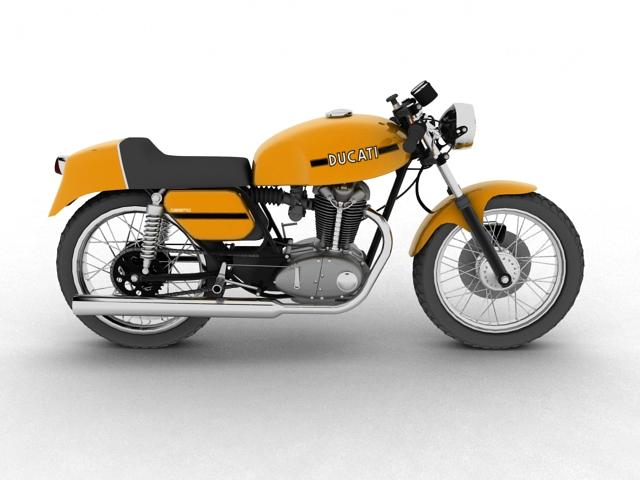 ducati 350 desmo 1971 3d model 3ds max c4d obj 105315