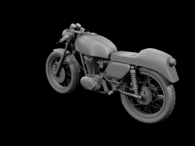 ducati 350 desmo 1971 3d model 3ds max c4d obj 105319