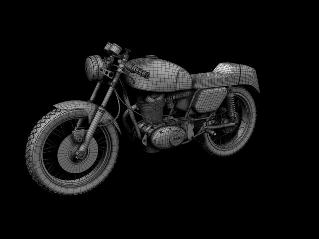 ducati 350 desmo 1971 3d model 3ds max c4d obj 105324
