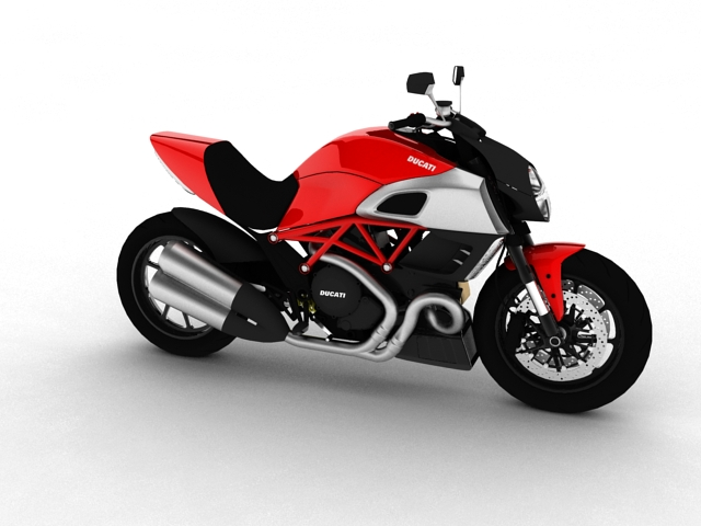ducati diavel 2011 3d model 3ds max c4d obj 151952