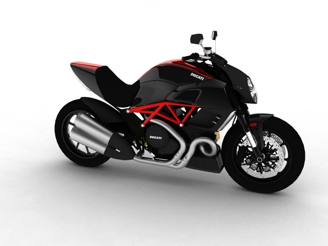 ducati diavel 2011 3d model 3ds max c4d obj 151953