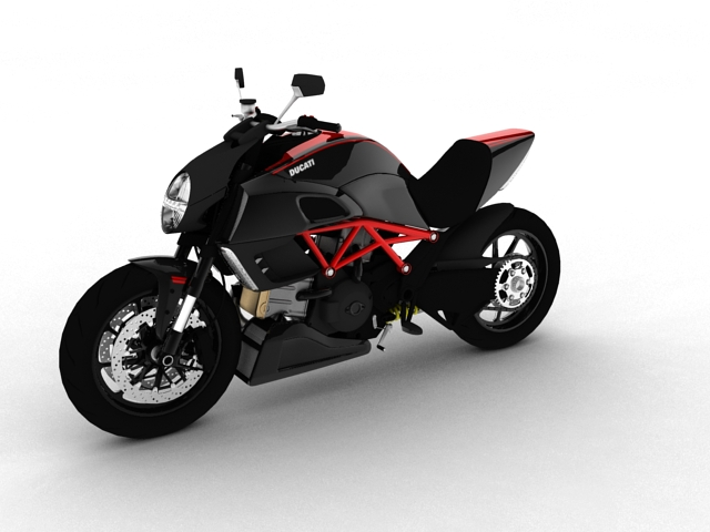 ducati diavel 2011 3d model 3ds max c4d obj 151954