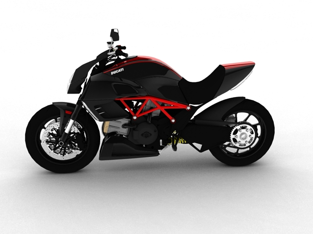 ducati diavel 2011 3d model 3ds max c4d obj 151955
