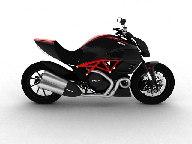ducati diavel 2011 3d model 3ds max c4d obj 151959