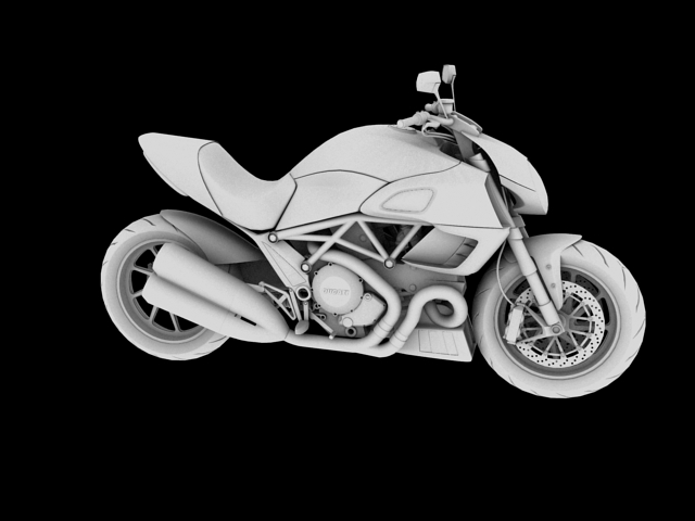 ducati diavel 2011 3d model 3ds max c4d obj 151961