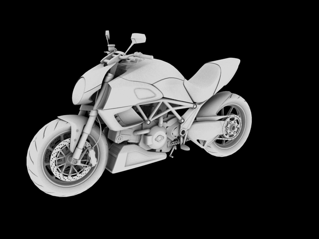 ducati diavel 2011 3d model 3ds max c4d obj 151962