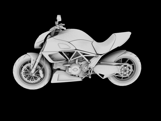 ducati diavel 2011 3d model 3ds max c4d obj 151963