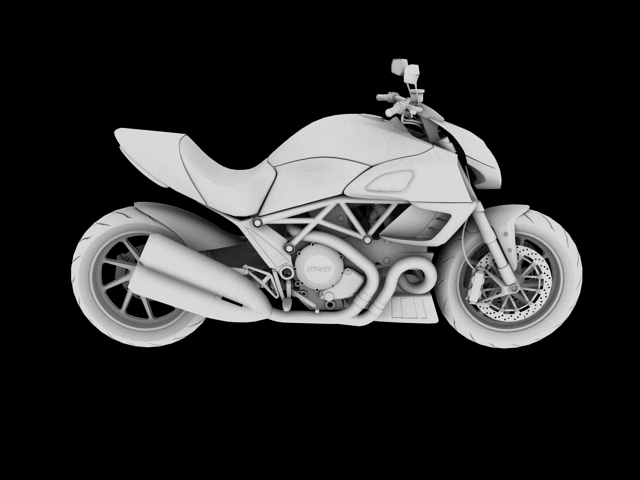 ducati diavel 2011 3d model 3ds max c4d obj 151966