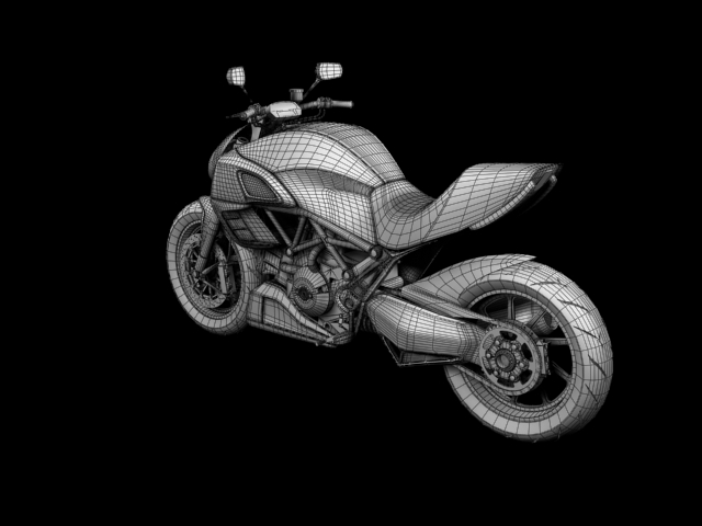 ducati diavel 2011 3d model 3ds max c4d obj 151967