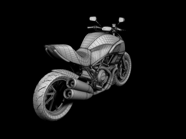 ducati diavel 2011 3d model 3ds max c4d obj 151969