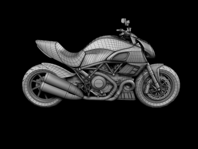 ducati diavel 2011 3d model 3ds max c4d obj 151970