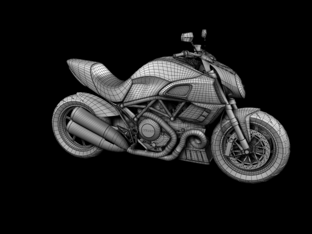 ducati diavel 2011 3d model 3ds max c4d obj 151971