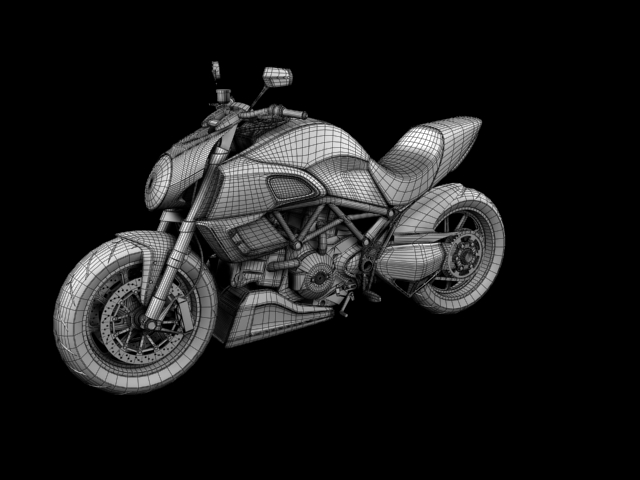 ducati diavel 2011 3d model 3ds max c4d obj 151972