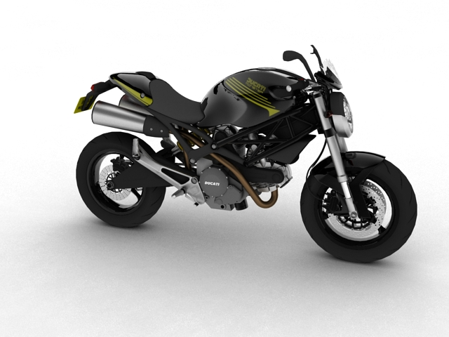 ducati monster 796 2011 3d model 3ds max c4d obj 152257