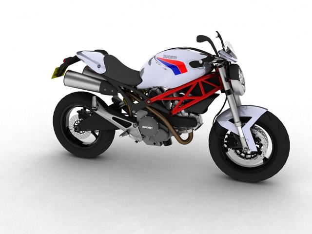 ducati monster 796 2011 3d model 3ds max c4d obj 152258