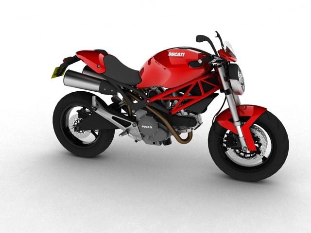 ducati monster 796 2011 3d model 3ds max c4d obj 152259