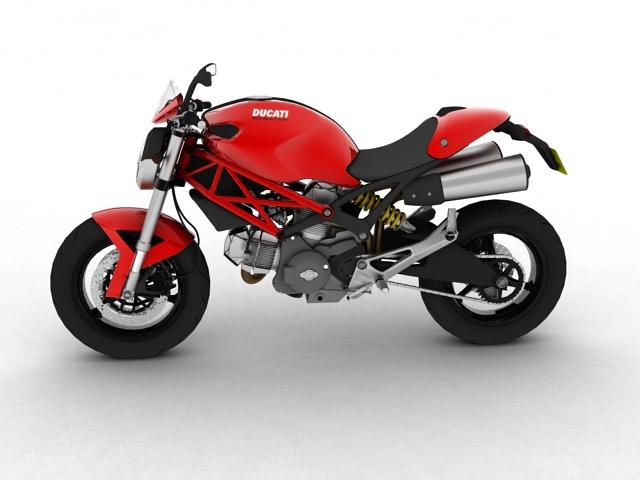 ducati monster 796 2011 3d model 3ds max c4d obj 152261