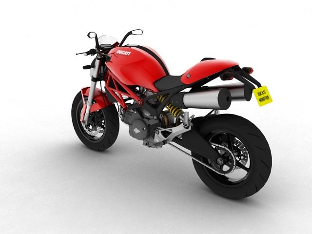 ducati monster 796 2011 3d model 3ds max c4d obj 152263