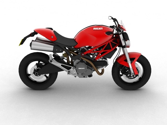 ducati monster 796 2011 3d model 3ds max c4d obj 152264