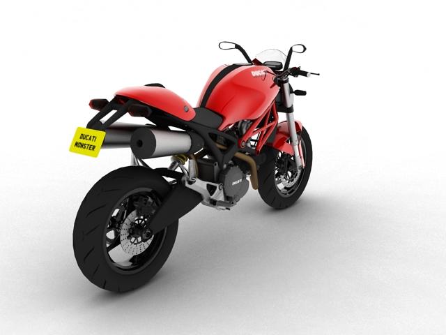 ducati monster 796 2011 3d model 3ds max c4d obj 152265