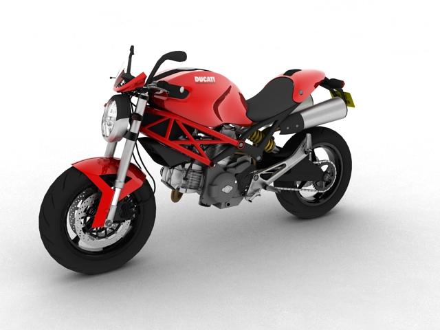 ducati monster 796 2011 3d model 3ds max c4d obj 152266