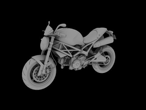 ducati monster 796 2011 3d model 3ds max c4d obj 152267