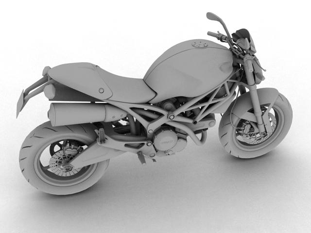 ducati monster 796 2011 3d model 3ds max c4d obj 152268