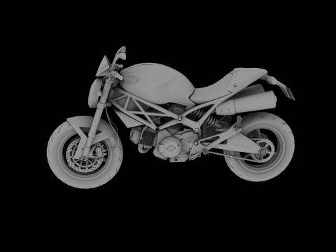 ducati monster 796 2011 3d model 3ds max c4d obj 152269