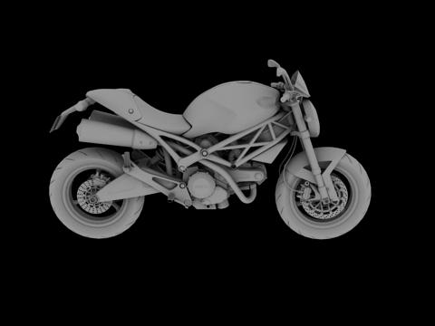ducati monster 796 2011 3d model 3ds max c4d obj 152272