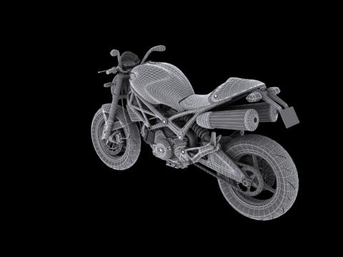 ducati monster 796 2011 3d model 3ds max c4d obj 152275