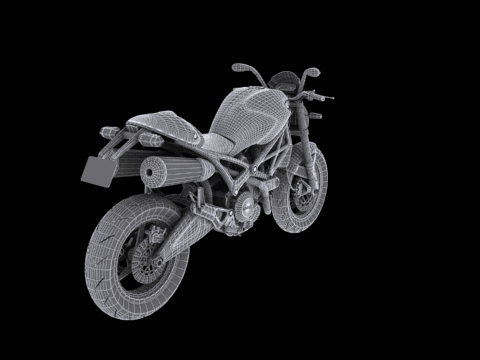 ducati monster 796 2011 3d model 3ds max c4d obj 152277