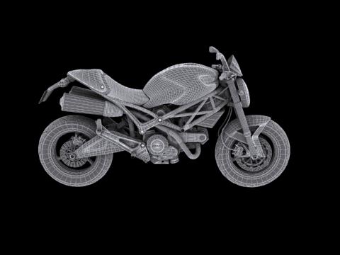ducati monster 796 2011 3d model 3ds max c4d obj 152278