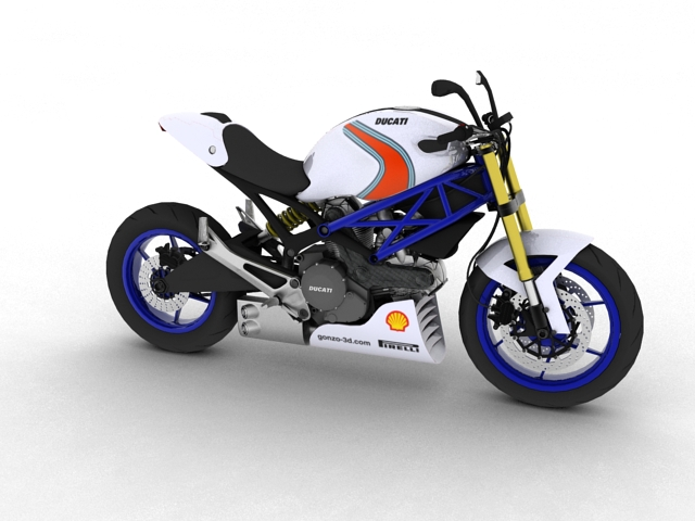 ducati monster 796 racer 2012 3d model 3ds max fbx c4d obj 154748